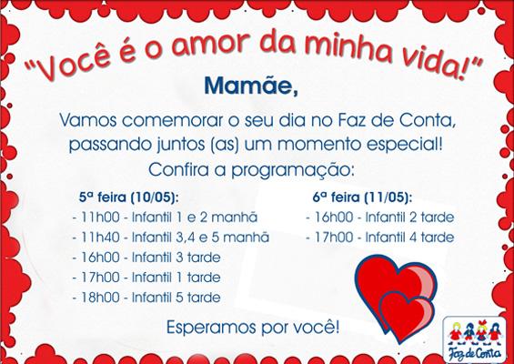 Convite Dia Das Maes Escola Infantil Faz De Conta